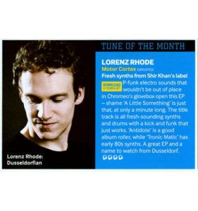 Lorenz Rhode – Tune of the month in Mixmag